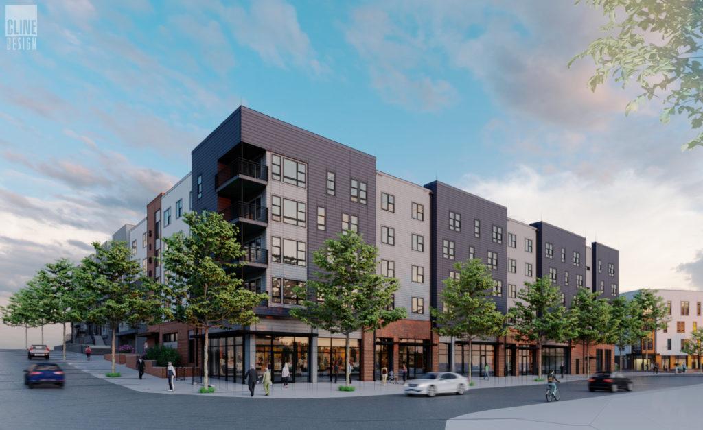 Architectural rendering of Willard street apartments